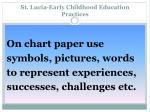 st lucia early childhood education practices