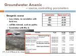 groundwater arsenic