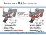 groundwater u rn distribution