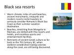 black sea resorts