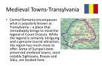 medieval towns transylvania