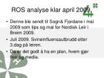 ros analyse klar april 2009