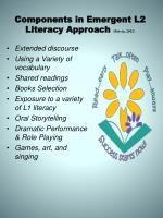 components in emergent l2 literacy approach boivin 2012