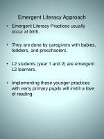 emergent literacy approach1
