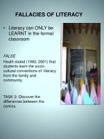 fallacies of literacy