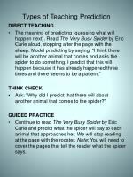 types of teaching prediction