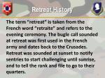 retreat history