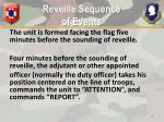 reveille sequence of events