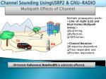 channel sounding usingusrp2 gnu radio1