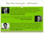 the way forward all parties