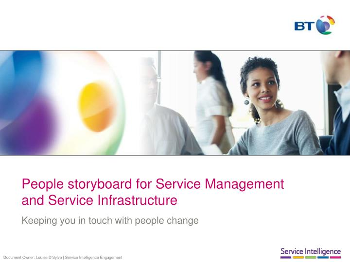 people storyboard for service management and service infrastructure n.