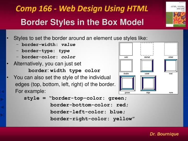 Border Styles in the Box Model