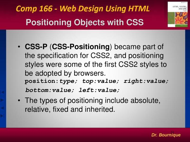 Positioning Objects with CSS