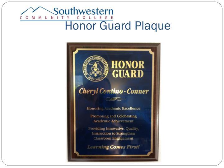 Honor Guard Plaque