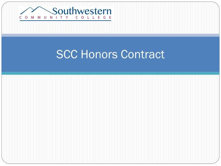 SCC Honors Contract