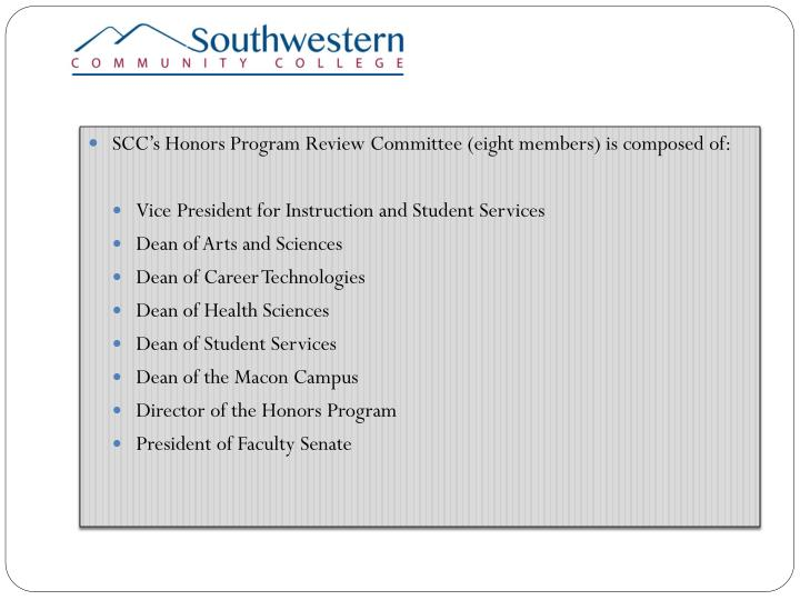 SCC's Honors P
