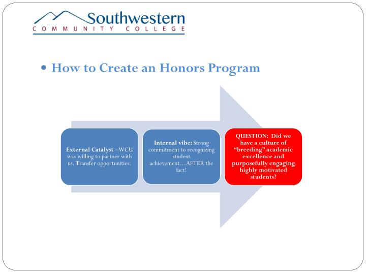 How to Create an Honors Program