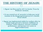 the history of jigsaw