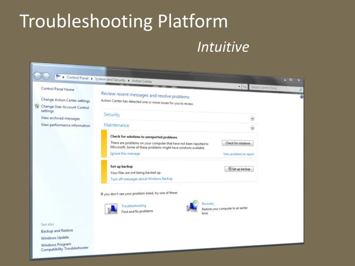 Troubleshooting Platform