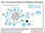 aim convenient access to pathway information