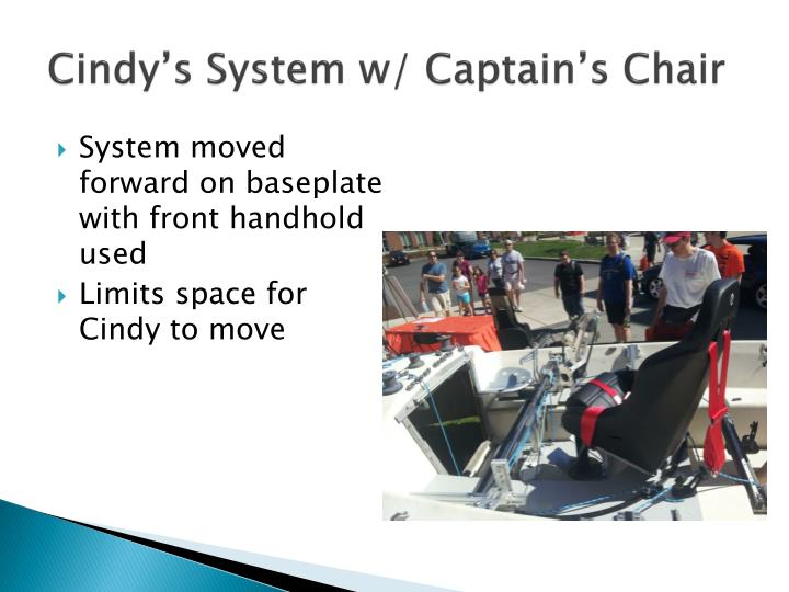 Cindy's System w/ Captain's Chair