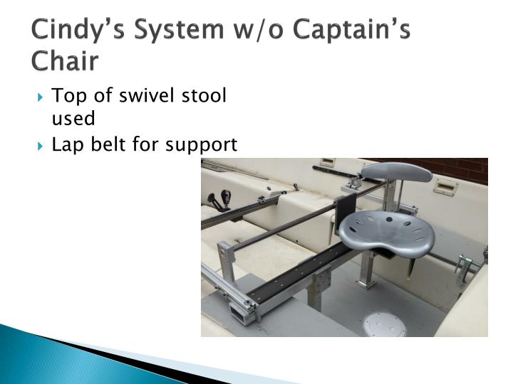 Cindy's System w/o Captain's Chair