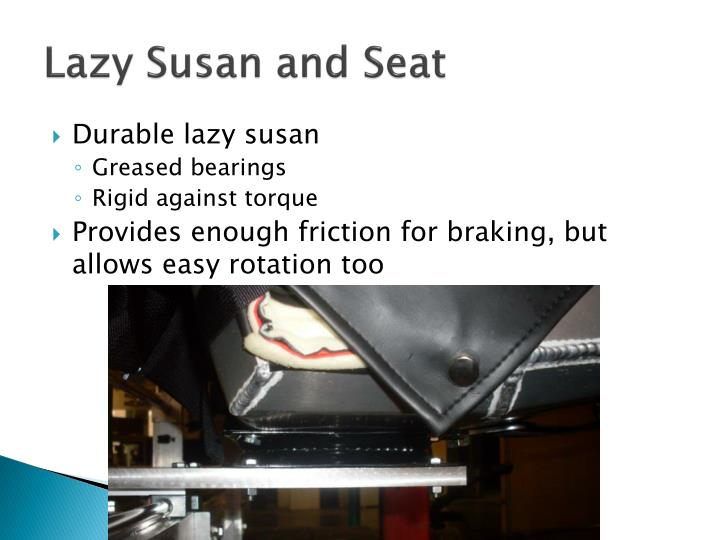 Lazy Susan and Seat