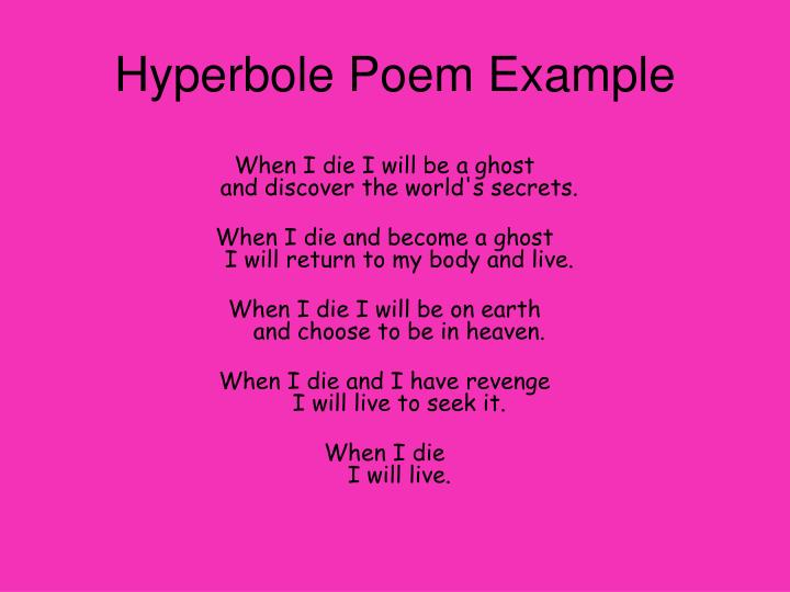 Example Of Hyperbole Poem Images Example Cover Letter For Resume