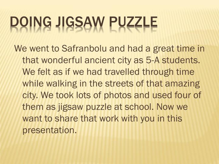 doing jigsaw puzzle n.