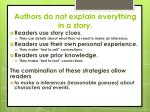 authors do not explain everything in a story