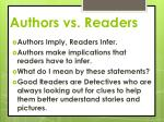 authors vs readers
