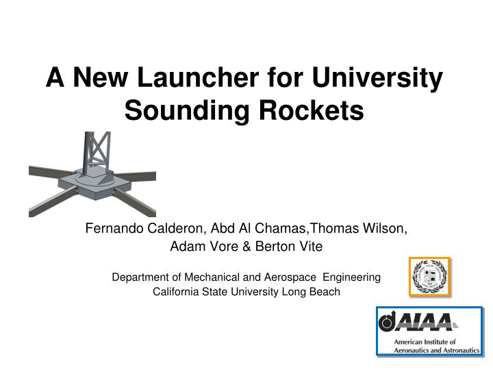 a new launcher for university sounding rockets n.
