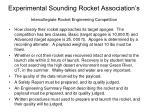 experimental sounding rocket association s intercollegiate rocket engineering competition