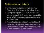 outbreaks in history