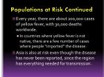 populations at risk continued