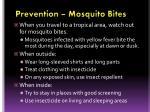 prevention mosquito bites