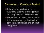 prevention mosquito control