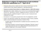 deduction in respect of employment of new workmen s 80jjaa substituted w e f 1 april 2014