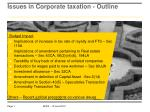 issues in corporate taxation outline