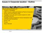 issues in corporate taxation outline1