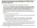 taxation of income by way of royalty or fts s 115a w e f ay 2014 151
