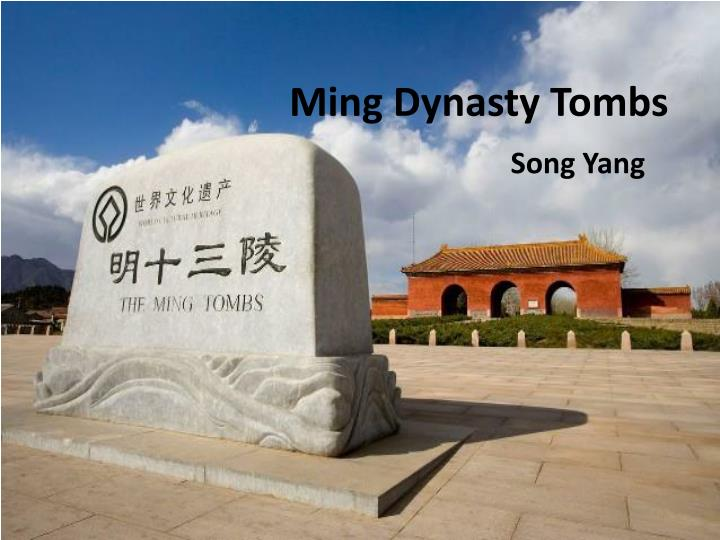 ming dynasty tombs n.