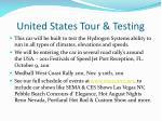 united states tour testing