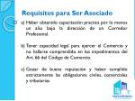requisitos para ser asociado
