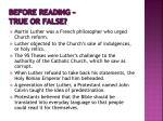 before reading true or false