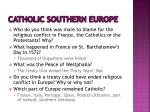 catholic southern europe