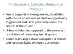protestant v catholic religion or politics
