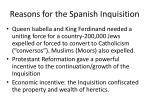 reasons for the spanish inquisition