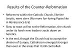 results of the counter reformation