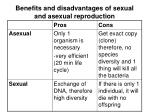 benefits and disadvantages of sexual and asexual reproduction